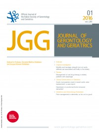 JOURNAL OF GERONTOLOGY AND GERIATRICS 1-2016 Cover