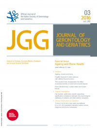 JOURNAL OF GERONTOLOGY AND GERIATRICS 3-2016 - Cover